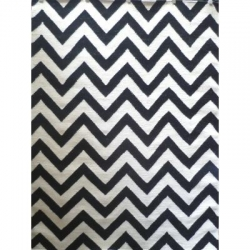 CHEVRON BLACK/WHITE 200X290