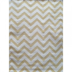 CHEVRON CALABASH YELLOW/WHITE 160X230