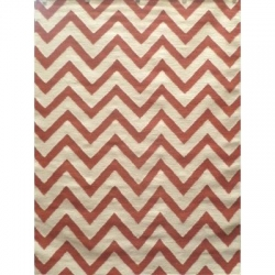 CHEVRON RUST/WHITE 160X230