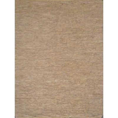 LEATHER KILIM  BEIGE/GOLD 120X160